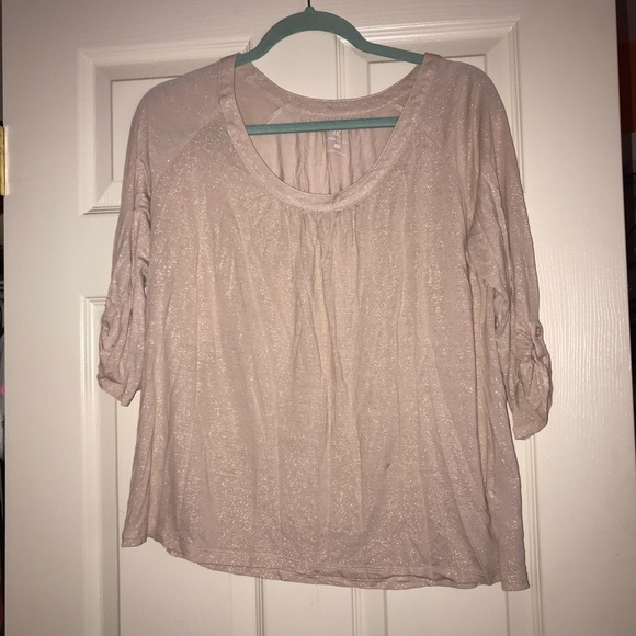 New York & Company Tops - Light pink glitter top